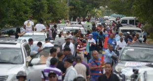Organizaciones marchan contra delincuencia y el narcotráfico en Baní